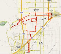 Pica's route through the Foxy Fall Century, October 17 2009