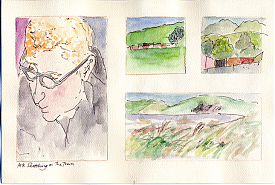 Pete, landscapes from train