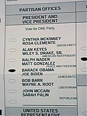 my presidential vote