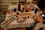 Simon's sushi table