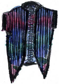 vest design, watercolor